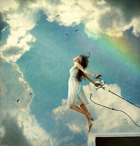 As she flies