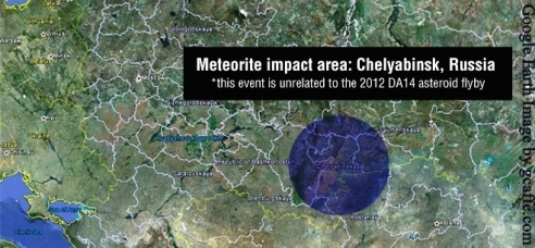 Russia Meteor: A meteor seen flying over Russia on February 15, 2013 impacted Chelyabinsk, Russia.