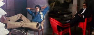 Amitabh Bachchan shooting on the same floor for on two different occasions.