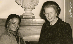 Sheila Kaul with Margaret Thatcher