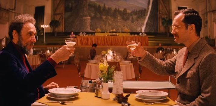 F. Murray Abraham and Jude Law in The Grand Budapest Hotel