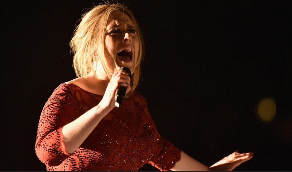 Adele performs 'All I Ask' on stage