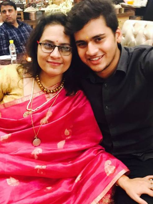 Geetanjali Kaul with son Vivan Kaul