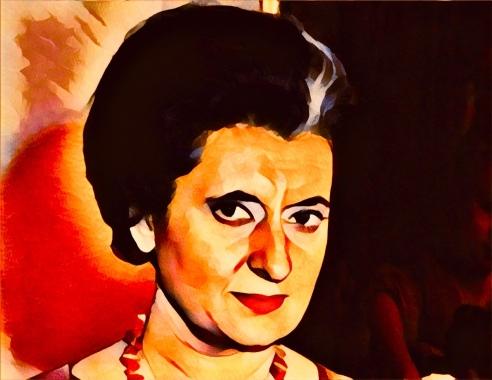 Indira Gandhi red lipstick